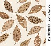 seamless pattern of handmade... | Shutterstock . vector #209881702