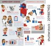 women heart disease infographic ... | Shutterstock .eps vector #209887402