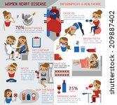 women heart disease infographic ... | Shutterstock .eps vector #209887402