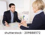 job interview or meeting...   Shutterstock . vector #209888572