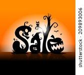 halloween sale | Shutterstock .eps vector #209893006