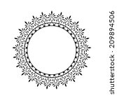 vector round ornament | Shutterstock .eps vector #209894506