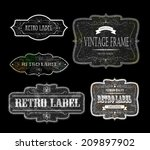 set of vintage labels  vector... | Shutterstock .eps vector #209897902