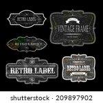 set of vintage labels  vector... | Shutterstock .eps vector #209897902