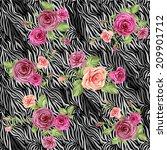 dark stylish animal pattern... | Shutterstock . vector #209901712