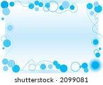 blue bubble frame | Shutterstock .eps vector #2099081