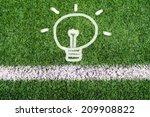 idea light bulb hand drawing on ... | Shutterstock . vector #209908822