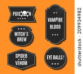 halloween label | Shutterstock .eps vector #209934982