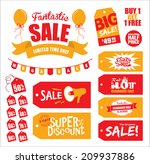 set of sale tags   sale icon | Shutterstock .eps vector #209937886