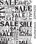 sale typography   Shutterstock .eps vector #20994253