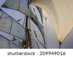 Small photo of all sails raised - favorable wind and ight
