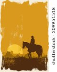 Cowboy Riding Horse Silhouette