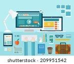 flat modern design vector... | Shutterstock .eps vector #209951542