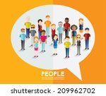 different social groups of... | Shutterstock .eps vector #209962702