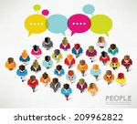 top view of social people... | Shutterstock .eps vector #209962822