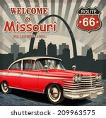 welcome to missouri retro... | Shutterstock .eps vector #209963575