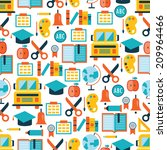 back to school seamless... | Shutterstock .eps vector #209964466