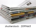 pile of newspaper in isolated... | Shutterstock . vector #2099665