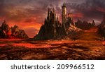 creepy castle in the middle of... | Shutterstock . vector #209966512