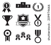 trophy and awards icons set ... | Shutterstock .eps vector #209974666
