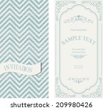 set of vintage invitations on... | Shutterstock .eps vector #209980426