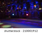 stage lights on a console  smoke | Shutterstock . vector #210001912