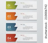 design clean number banners... | Shutterstock .eps vector #210006742