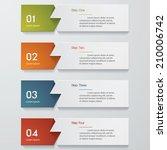 design clean number banners... | Shutterstock .eps vector #210006742