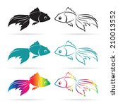 Vector Image Of An Goldfish On...