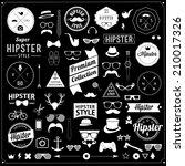 huge set of vintage styled... | Shutterstock . vector #210017326