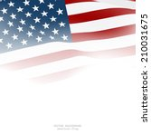 american flag for decorative... | Shutterstock .eps vector #210031675