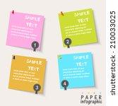 four paper flow chart info... | Shutterstock .eps vector #210033025