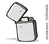 cartoon metal lighter | Shutterstock .eps vector #210034636