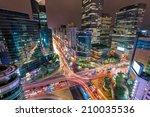 traffic speeds through an... | Shutterstock . vector #210035536