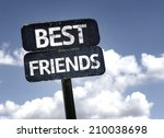 Best Friends Sign With Clouds...