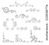set of vector swirl elements... | Shutterstock .eps vector #210038776
