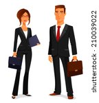 young man and woman in elegant... | Shutterstock .eps vector #210039022