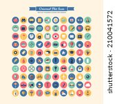 flat modern icons for business  ...   Shutterstock .eps vector #210041572