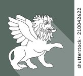 imaginary lion with wings | Shutterstock .eps vector #210042622