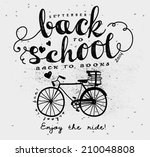 back to school vintage... | Shutterstock .eps vector #210048808