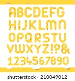 set of cheese letters.  vector... | Shutterstock .eps vector #210049012