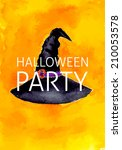 halloween party witch hat... | Shutterstock .eps vector #210053578