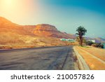 The Road At Sunrise In Ein...