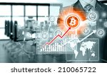 choosing bitcoins  businessman... | Shutterstock . vector #210065722