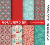 8 seamless patterns   floral...