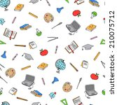 back to school hand drawn... | Shutterstock .eps vector #210075712