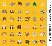 set of different mammal animals ... | Shutterstock .eps vector #210088882