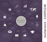 infographic elements. vector... | Shutterstock .eps vector #210092248