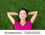 total relaxation. top view of... | Shutterstock . vector #210102292