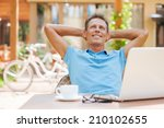 happy day dreamer. relaxed... | Shutterstock . vector #210102655